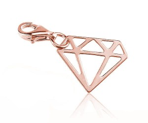 Zawieszka do bransoletek chrams diament - rose gold